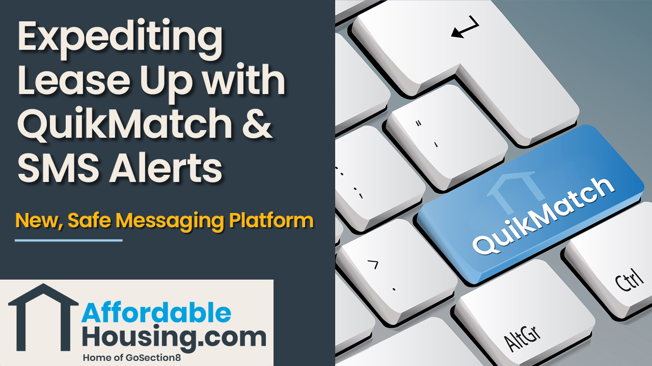Expediting lease up through quikmatch v2