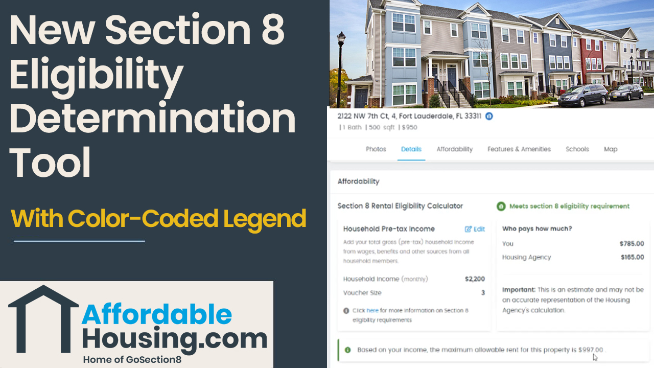 Affordablehousing.com Section 8 eligibility tool
